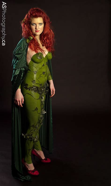 magestic poison ivy  latex body paint model evangeline flickr