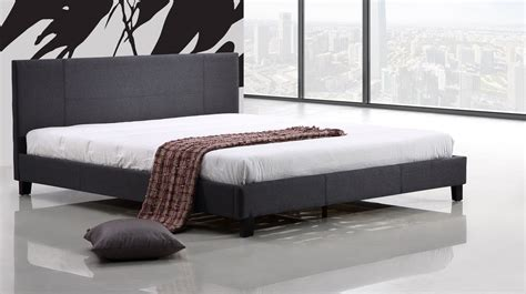 Fabric King Bed Frame by King Linen Fabric Bed Frame Grey