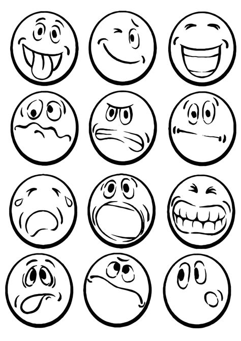 emotions coloring pages coloring pages    print