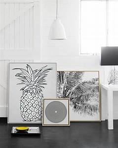 Ananas Deco Blanc : cadre ananas poster noir blanc deco ~ Teatrodelosmanantiales.com Idées de Décoration