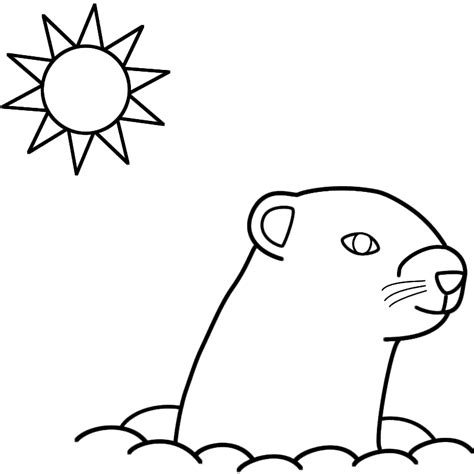 groundhog coloring pages groundhog day coloring pages activities coloring home