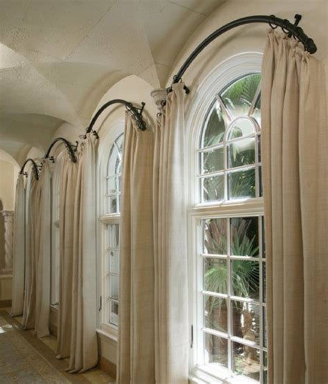 arched window treatment hardware semi circle curtain rod for window