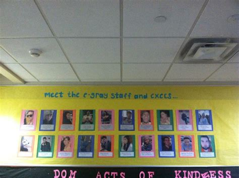Meet The Leadership Team Bulletin Board