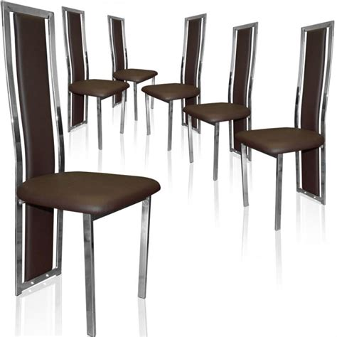 lot de 8 chaises organisation chaise salle a manger marron
