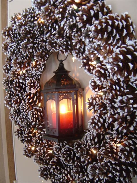 christmas decoration with pine cones