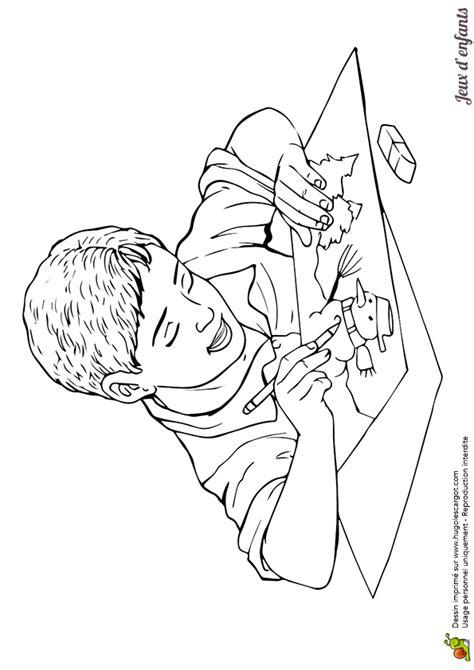cuisine jouet coloriage le dessin du garçon