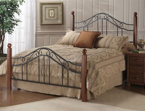 king size wood headboard and footboard classic wood and wrought iron king size poster bed