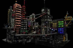 Cyber City, a Modular Lego Cyberpunk Diorama Make: