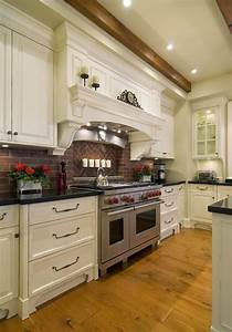 kitchen brick backsplashes for warm and inviting cooking With what kind of paint to use on kitchen cabinets for home accents wall art