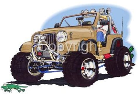 jeep cartoon offroad jeep cj wrangler off road cartoon tshirt 4900cj