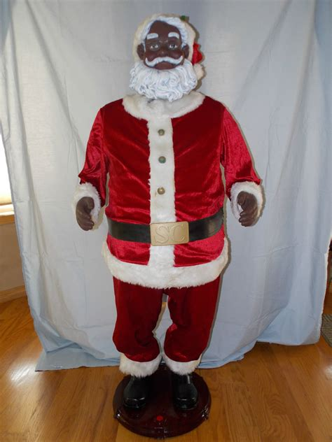 life size black santa claus size santa gemmy wiki fandom powered by wikia