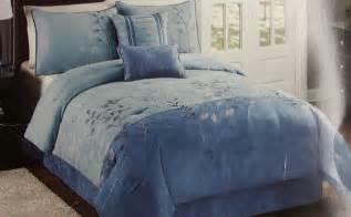 cannon heritage microsuede comforter set blue ebay