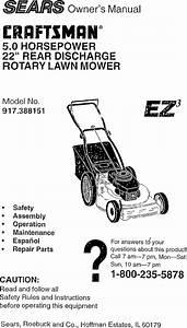 Craftsman 917388151 User Manual Rotary Lawn Mower Manuals