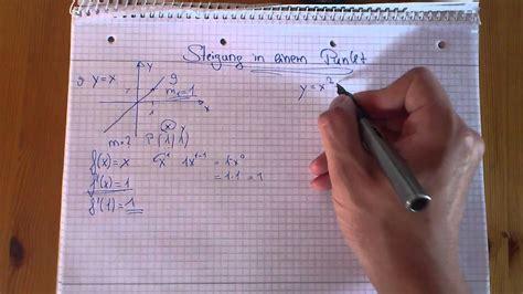 mathe nachhilfe steigung  einem punkt berechnen