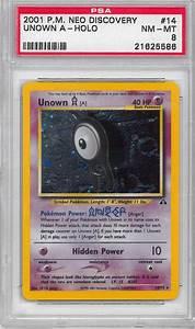 Pokemon Neo Discovery Single Unown A 1475 PSA 8