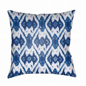 decorative pillows blue and white 20 x 20 inch throw With blue and white accent pillows
