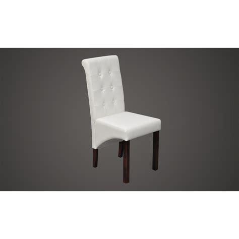 chaise simili cuir blanc la boutique en ligne chaise antique simili cuir blanc lot
