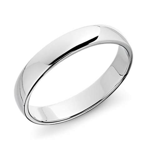 classic wedding ring in platinum 4mm blue nile