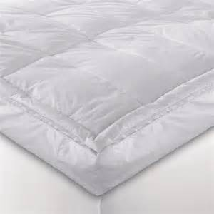 bed bath beyond 5 quot white down blend pillowtop featherbed