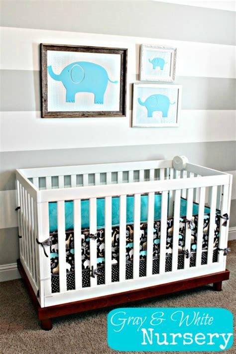 Gray Elephant Nursery by Nursery Ideas Gray And White