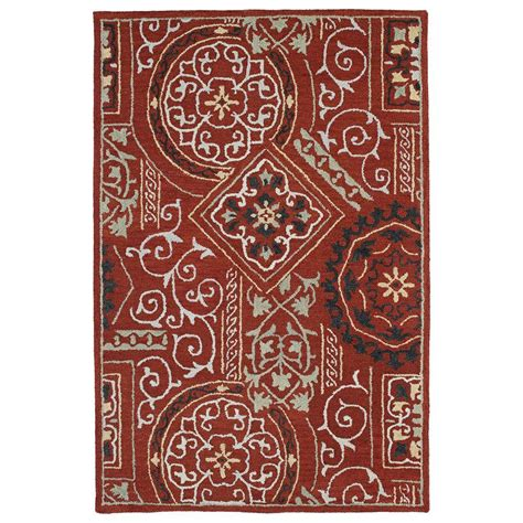 xander floor l kaleen brooklyn xander red 8 ft x 11 ft area rug 5302 25 8x11 the home depot