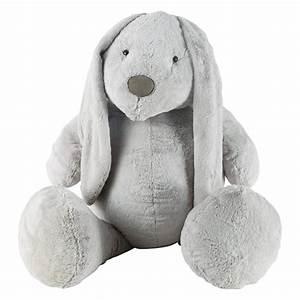 Lapin En Peluche : peluche lapin grise h 96 cm bunny maisons du monde ~ Teatrodelosmanantiales.com Idées de Décoration
