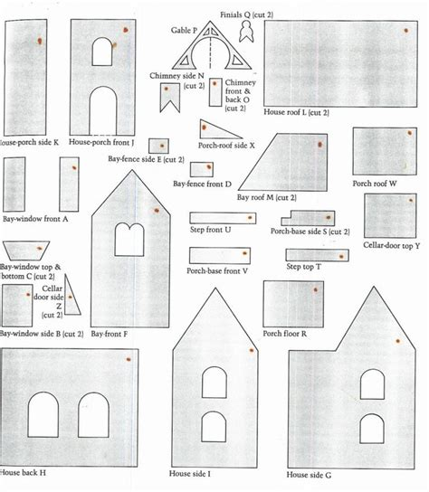 Gingerbread House Template Gingerbread House Template Www Imgkid The Image