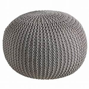 Pouf A Bille : pouf boule en coton taupe npo1320 aubry gaspard ~ Teatrodelosmanantiales.com Idées de Décoration