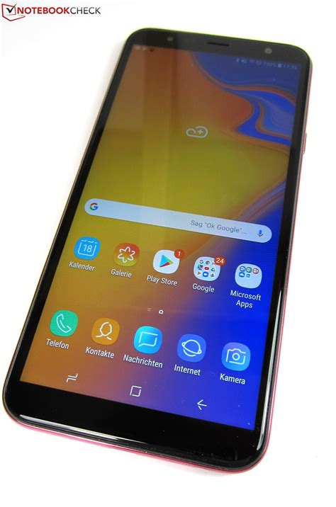 samsung galaxy j4 plus 2018 smartphone review notebookcheck net reviews