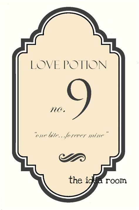 love potion   labels  idea room
