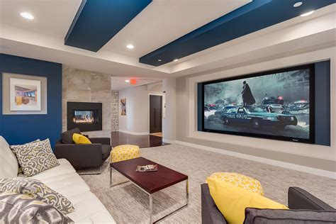 high resolution design basement  basement home theater