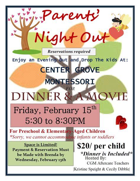 parents night february center grove montessori