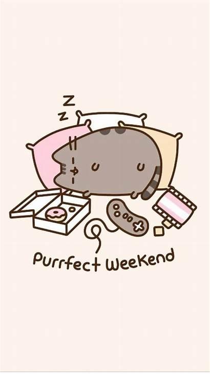 Pusheen Wallpapers Cat Purrfect Weekend Kawaii Desktop