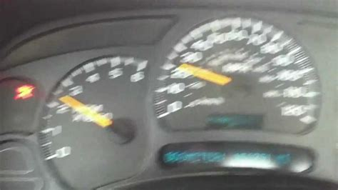 solved  chevy hd shifting speedo problem youtube