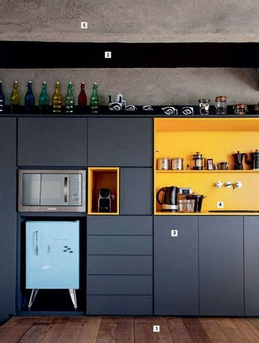deco cuisine bleu une cuisine bleu canard avec une crédence colorée déco