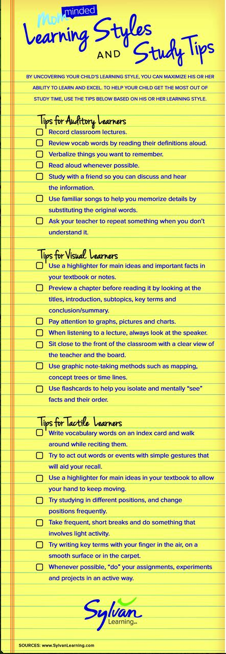 New Interesting Visual On Learning Styles And Study Tips  Educational Technology And Mobile