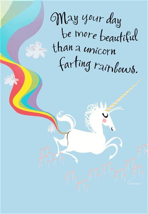 Farting Unicorn Funny Birthday Card - Greeting Cards ...