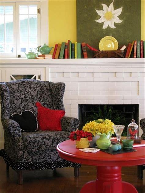 colorful cottage decorating ideas  redyellowblueblack