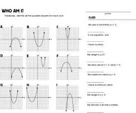 graphing quadratic equations worksheet who am i quadratics mrmillermath