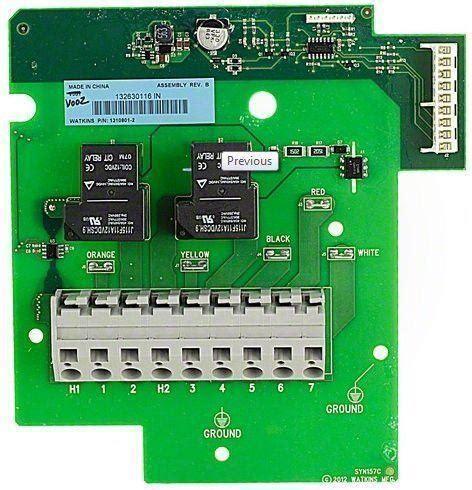 Hot Spring Spas Heater Relay Circuit Board
