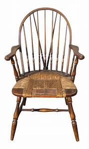 B&S Co. Solid Wood Rush Seat Rustic Windsor Arm Chair ...