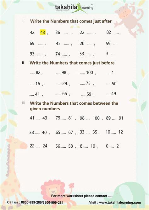 cbse ncert worksheet for class 1 maths 1 grade worksheets free