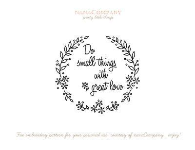 small   great love  pattern embroidery patterns simple embroidery pattern