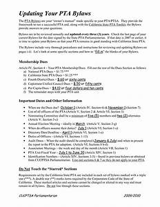 Best photos of pta bylaws template pta membership form for Pta bylaws template