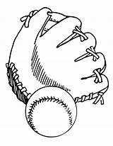 Glove Baseball Softball Drawing Coloring Gloves Ball Drawings Clipart Pages Getcoloringpages Printable sketch template