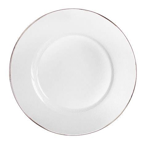 clear glass plates the jay companies 13 quot round clear platinum rim glass charger plate