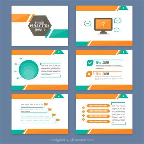 Descargar Templates Illustrator Gratis by Abstract Presentation With Orange And Green Details Vector