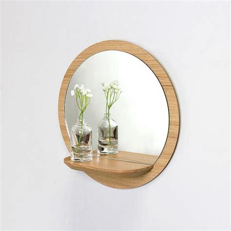 wood mirror  shelf sunrise  reine mere