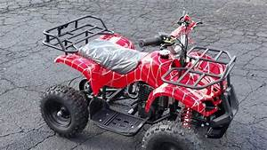 50cc Kids Atv Gas Powered Four Wheeler Quad Fully