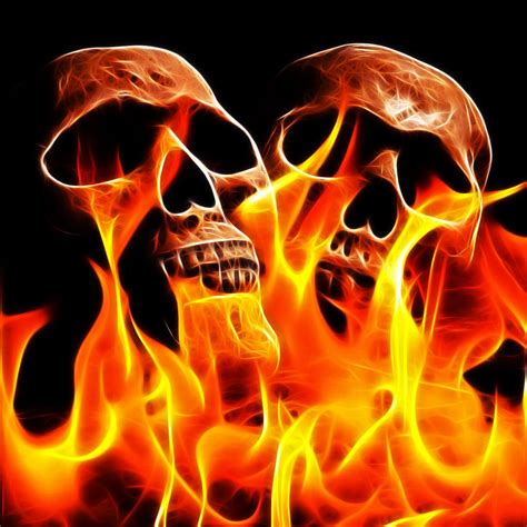 Skull Animated Wallpaper - wallpapers skulls with flames wallpapersafari